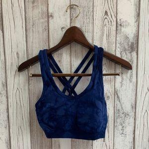 Reinspire sports bra blue size medium